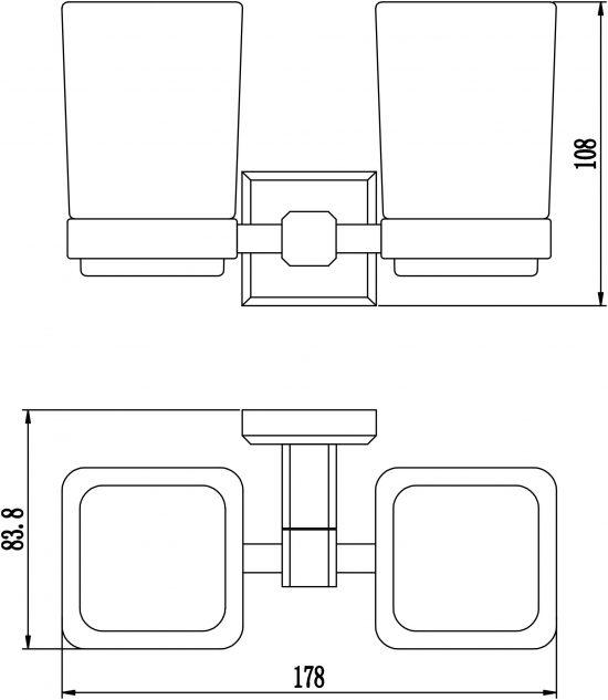 Схема Стакан для зубных щеток Леонардо Двойной 9928А