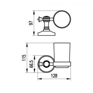 Схема Стакан для зубных щеток Милано бронза 9621