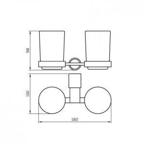 Схема Стакан для зубных щеток двойной Маттео 8828
