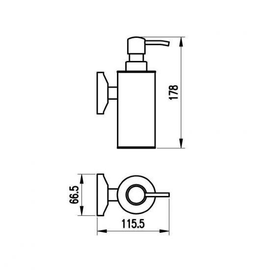 схема Дозатор для жидкого мыла Милано бронза 9632