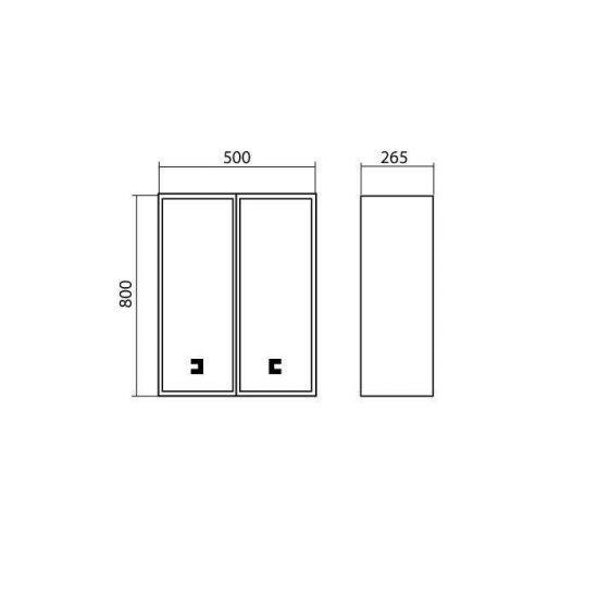 Схема Шкаф Мобис навесной