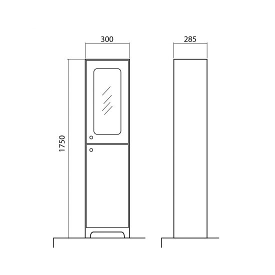 Схема Пенал Классик 2019 40 см напольный с корзиной для белья