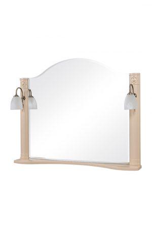 Зеркало Арт Деко 100 см айвори с подсветкой