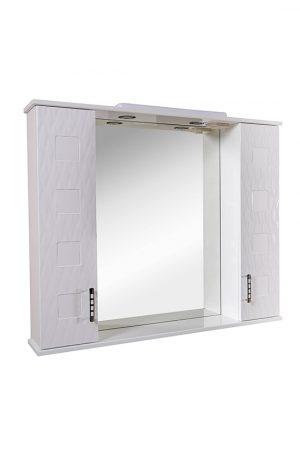Зеркало Ассоль 100 см с пеналами и подсветкой