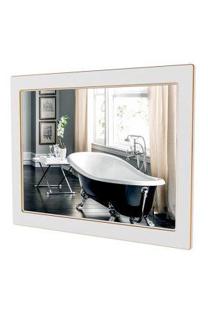 Зеркало Беатриче 100 см белый патина золото