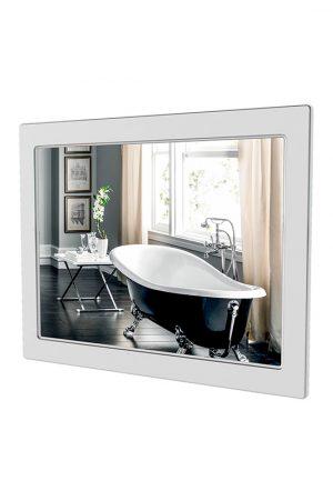 Зеркало Беатриче 80 см белый патина хром