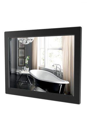 Зеркало Беатриче 80 см чёрный патина хром