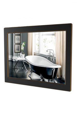 Зеркало Беатриче 80 см чёрный патина золото