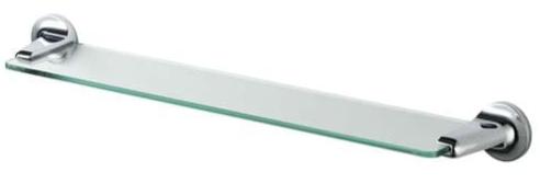 Полочка д/душа 60см (стекло) Haceka Aspen (405301)