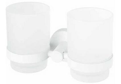 Стакан д/зубных щеток двойной Haceka Kosmos White (402808)