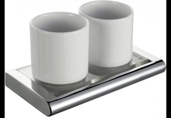 Стакан для зубных щеток двойной Haceka Viero (415408)